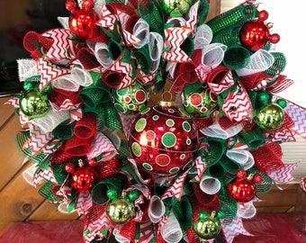 Mickey Themed Spiral Deco Mesh Wreath