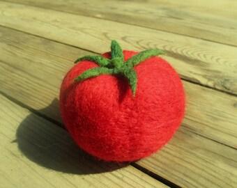 Needle Felted Woolen Vegetables - Тomato, play food