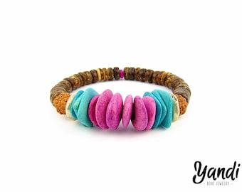 Women bracelet , Mens bracelet , Handmade bracelet , Surf bracelet , Friendship bracelet , Beach , Bohemian bracelet , Stretch bracelet