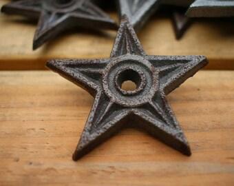 """Cast Iron Star 3"""" With Hole Raw Cast Iron Texas Star Wall Decor DIY"""