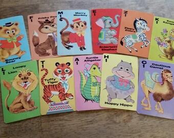 Vintage Animal Rummy Cards