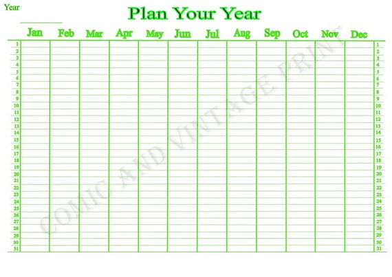 yearly wall planner for 2018 2019 2020 and on a4 laminated