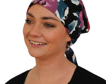Gabrielle Pre-Tied Head Scarf -Women's Cancer Headwear, Chemo Scarf, Alopecia Hat, Head Wrap,  Head Cover for Hair Loss - Bold Garden