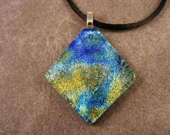 Crinkle Dichroic Starry Night Pendant