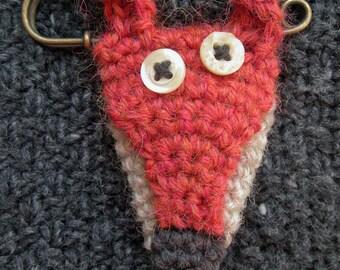 Foxy Blanket Pin Brooch