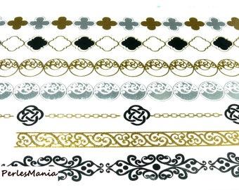 Santa Claus temporary tattoos, temporary tattoos metallic H8150 for customization