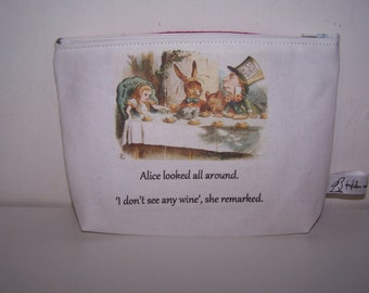 Mad Hatter, tea party pencil case, teacher gift.  Alice in Wonderland, Through the Looking Glass, student gift, Christmas gift for girls.