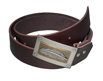 Men's leather belt / / Brown / / gift idea