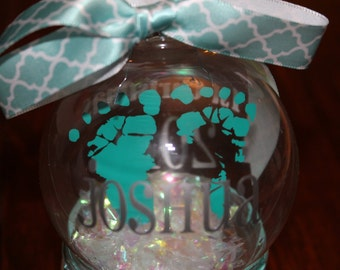 Baby's Actual Footprints Ornament!  An ornament made from your baby's first footprint!