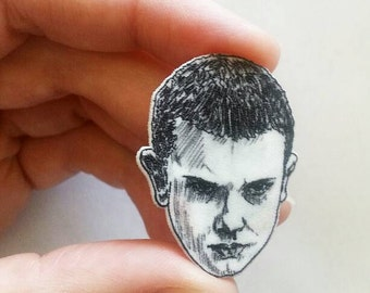 Eleven/ Stranger Things/Pin/Illustrated Pin