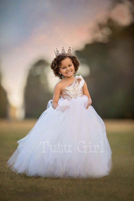 One shoulder flower girl dress blush gold and off white tutu one shoulder flower girl dress blush gold and off white tutu flower girl dress blush gold sequin couture gown rose gold dress mightylinksfo Gallery