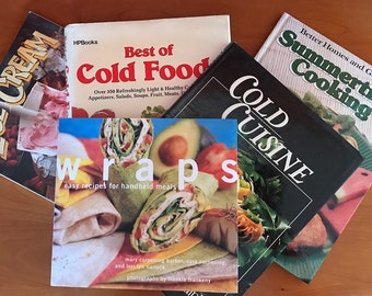 Cold Food Cookbook Collection-Vintage Recipes from 80s and 90s--5 Books full of Delicious Recipes for Summer--Salads, Wraps, Ice Cream