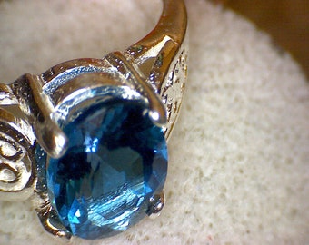 Beautiful London Blue Topaz Ring