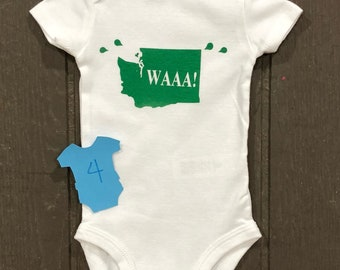 As is 3 months washington baby bodysuit