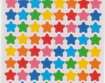Star Stickers - Rainbow Star Stickers - Colourful Star Stickers - Reference A5053
