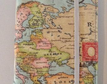Europe Map Travel Journal Hand Bound Hand Made Unique Stationery HandBound