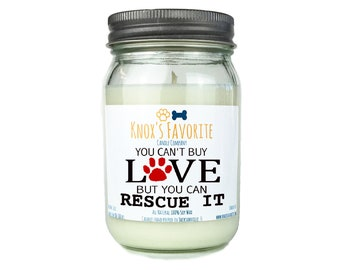 Scented Candle Dog Lover You Can't Buy Love 16 oz. Candle Dog Lover Gift Dog Person Animal Rescue Candle Gift for Her Gift for Him Dog