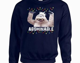 Tacky Christmas Sweatshirt Abominable Snowman Bumbles Christmas Shirt Holiday Christmas Tacky Shirt