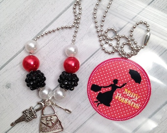 6 - Mary Poppins Birthday or Slumber Party Favors Mary Poppins Birthday favors Mary Poppins Necklace Mary Poppins Birthday Party