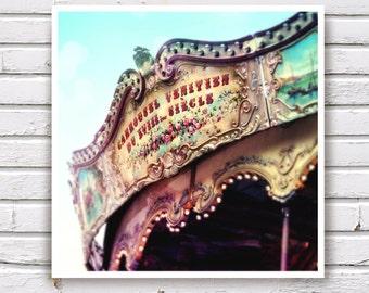 SALE: Festival Sweet Memory- The Carousel Montmartre Carnival Paris Fine Art Photo 8x8 Nursery decor, Vintage inspire Romantic