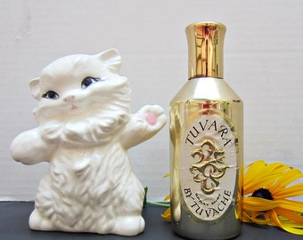 Original Vintage TUVARA by Tuvache 3.0 oz Perfume Spray Mist Gold Bottle over half full