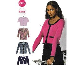 Women's Cardigan Sewing Pattern, Misses / Plus Size 16-18-20-22-24-26 UNCUT McCall's M6708