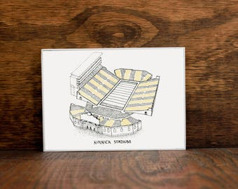Kinnick Stadium - Iowa Hawkeyes - Stipple Drawing- Football Art - Iowa Hawkeyes Art - Iowa Hawkeyes Print