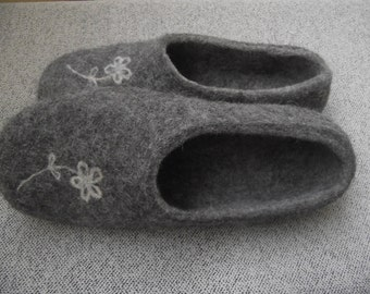 Eco friendly felted slippers for women