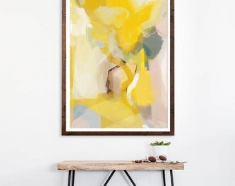 Gwenyth, abstract art print, Canvas art, yellow abstract