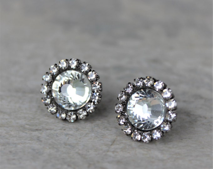 Gunmetal Earrings, Bridesmaid Gift, Bridesmaid Jewelry, Wedding Earrings, Gunmetal Jewelry, Dark Silver Earrings, Antique Silver Earrings