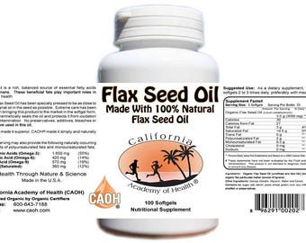 Flax Seed Oil High Lignan Flax
