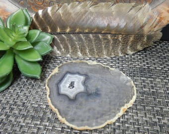 Agate Slice - ONE OF A Kind - Open Druzy Center - Gorgeous Display Piece!  (RK64B11-06)