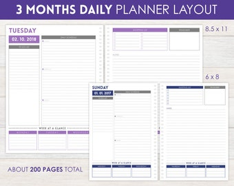 3-Month Daily Planner Pages