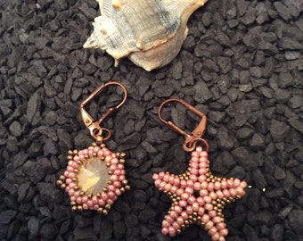 Beach Party Collection-Rose Starfish earrings