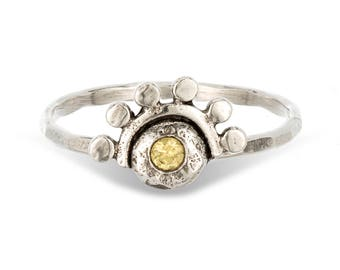 Citrine Sterling Silver Oriana stacking ring // or choose your stone