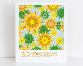 Wichita, Kansas travel poster