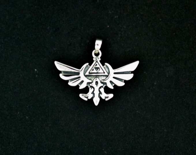 Legend of Zelda Pendant in Sterling Silver