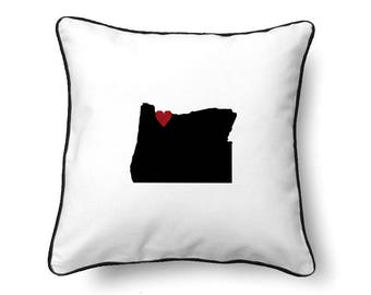 Oregon Pillow - Oregon Gifts - Oregon Map - OR State Map