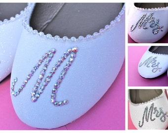 Customized Glitter Bridal Flats