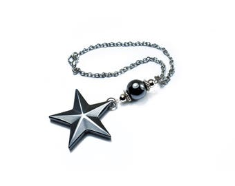 Rearview mirror car charm, Car Accessories, Hematite Star Car Charm, Hanger, Ornament, Christmas Gifts, Car mirror jewelry