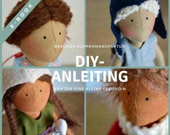 "Pattern & instructions for handmade doll ""Summergirl"", e-book, digital"