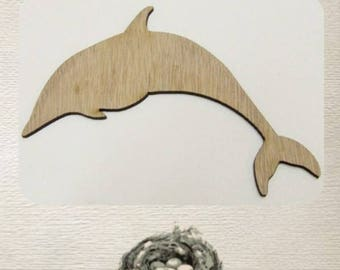 Dolphin Wood Cut Out - Laser Cut