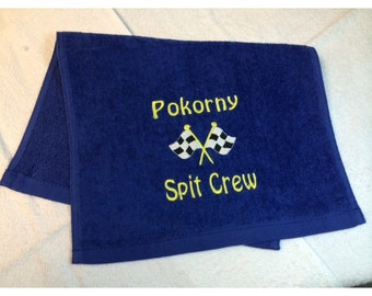 Personalized, Burp Cloth, NASCAR, Custom Embroidered, Race Cars, Custom Orders, Personalized Baby, velour towel, or white diaper,