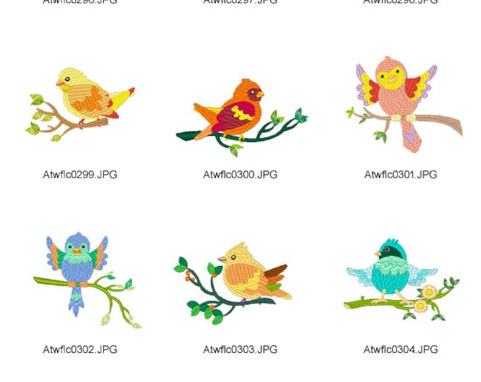 Little-Birds ( 10 Machine Embroidery Designs from ATW )