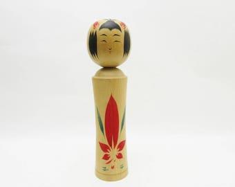 Vintage Kokeshi Doll.Naruko Traditional.by Shouichi Ito.Japanese FolkArt.242mm.#dk332