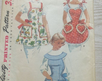 Retro 50's One Yard Aprons Pattern