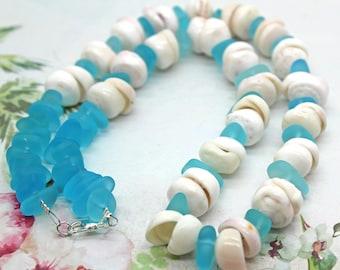 Kissing Puka Shell Necklace,  Puka Shell Necklace, Beach Jewelry, Puka Shell, Puka Necklace, Shell Necklace, Beach Wedding