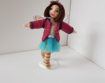 Needle Felted OOAk Art Doll / Sculpture: Lottie