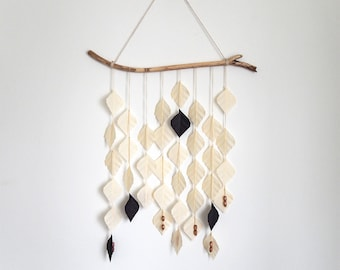Oatmeal & Black Wall Hanging, hanging mobile, home decor