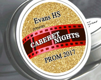 12 Personalized Cabernet Nights Prom Mint Tin Favors  - Prom part favors - Prom Favors - Prom Candy - Prom Candy Favors - Favors for Prom